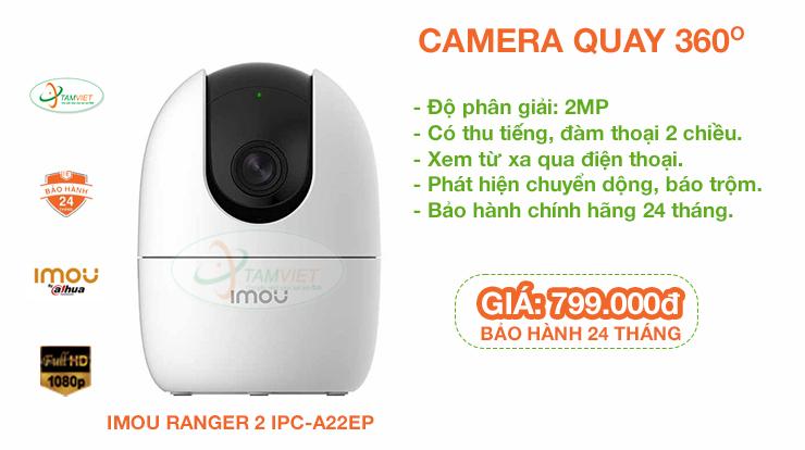 Lắp đặt camera quay 360 độ, không dây IMOU RANGER 2 IPC-A22EP
