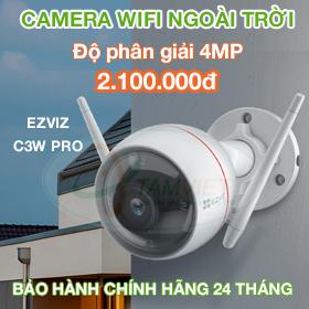Lắp đặt camera wifi EZVIZ C3W PRO 4MP ngoài trời